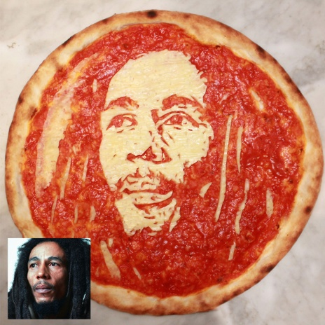 Bob Marley Pizza Portrait