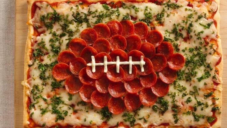 Football-shaped-pizza