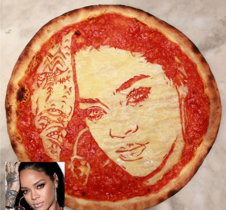 Rhianna Pizza Portrait